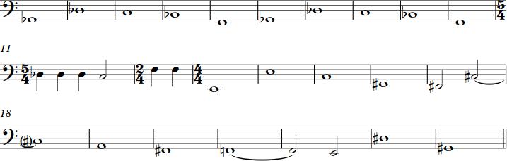Trombone solo structure